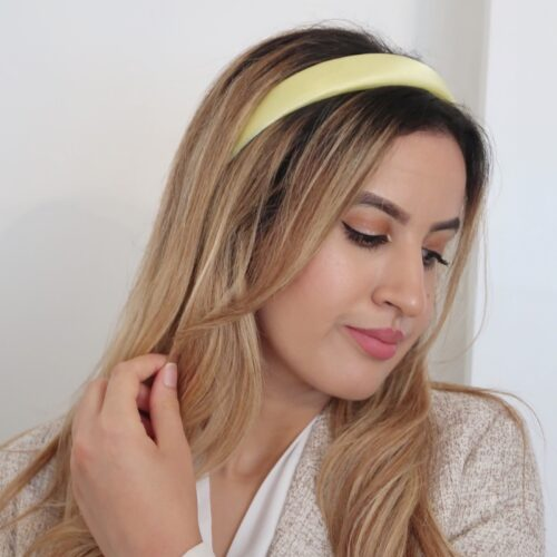 Yellow Satin Headband